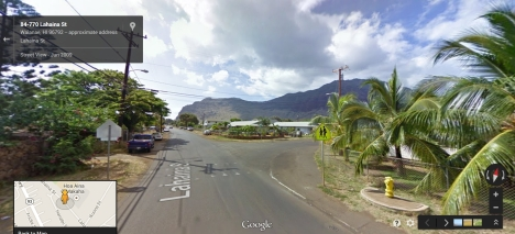 In Waianae, Lahaina St., by the entry to Makaha Elementary.