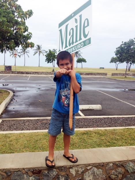 Maile's son, Keani.